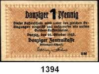 P A P I E R G E L D,D A N Z I G  1 Danziger Pfennig 22.10.1923.  Ros. DAN-35.
