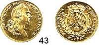 Deutsche Münzen und Medaillen,Bayern Karl Theodor (1733) 1777 - 1799 Dukat 1779, München.  3,47 g.  Hahn 349.  Fb. 255.  GOLD