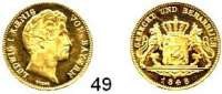 Deutsche Münzen und Medaillen,Bayern Ludwig I. 1825 - 1848 Dukat 1848.  3,49 g.  AKS 71.  Jg. 125.  Fb. 271.  Auflage 1.470 Exemplare.  GOLD