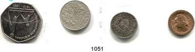 AUSLÄNDISCHE MÜNZEN,Kapverdische Inseln  5 Centavos 1930; 50 Centavos 1930; 2 1/2 Escudos 1953 und 200 Escudos 1995.  KM 1, 4, 9 und 35.  LOT 4 Stück.