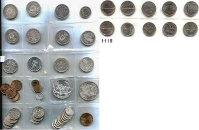 AUSLÄNDISCHE MÜNZEN,Portugal L O T S     L O T S     L O T S LOT von 51 verschiedenen Münzen.  Darunter 200 Reis 1892; 500 Reis 1875, 1887, 1892, 1896, 1898, 1903, 1907, 1908, 1910; 10 Escudos 1928, 1934; 1000 Escudos 1998 und 2000.