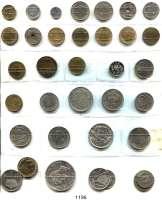 AUSLÄNDISCHE MÜNZEN,Spanien L O T S     L O T S     L O T S LOT von 35 meist verschiedenen Münzen.  Darunter 50 Centimos 1896(96) PG-V(ss); 1 Peseta 1899(99) SG-V; 5 Pesetas 1878(78) EM-M.