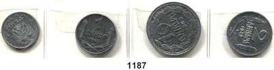 AUSLÄNDISCHE MÜNZEN,Serbien LOTS       LOTS       LOTS 50 Para 1942; 1, 2 Dinara 1942 und 10 Dinara 1943.  Schön 9 bis 12.  KM 30 bis 33.  LOT 4 Stück.