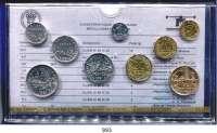 AUSLÄNDISCHE MÜNZEN,Frankreich 5. Republik seit 1958 Kurssatz 1981. (9 Werte. Centime bis 10 Francs)  KM SS 18.