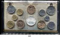AUSLÄNDISCHE MÜNZEN,Frankreich 5. Republik seit 1958 Kurssatz 1983. (12 Werte. Centime bis 100 Francs)  KM SS 20.