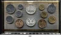 AUSLÄNDISCHE MÜNZEN,Frankreich 5. Republik seit 1958 Kurssatz 1984. (12 Werte. Centime bis 2x 100 Francs)  KM SS 21.