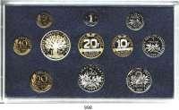 AUSLÄNDISCHE MÜNZEN,Frankreich 5. Republik seit 1958 Kurssatz 1999. (11 Werte. Centime bis 100 Francs)  KM PS 17.