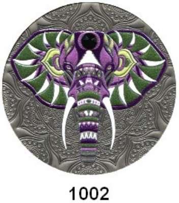 AUSLÄNDISCHE MÜNZEN,Ghana  2 Cedis 2020 (Silber, 1/2 Unze, Farbmünze).  Elefant. Mit Zertifikat.