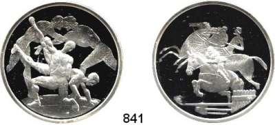 AUSLÄNDISCHE MÜNZEN,E U R O  -  P R Ä G U N G E N Griechenland 10 Euro (Silberunze) 2003 und 2004.  Olympische Spiele - Athen.  Kompletter SATZ 12 Stück.  Im Etui.