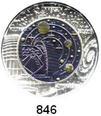 AUSLÄNDISCHE MÜNZEN,E U R O  -  P R Ä G U N G E N Österreich 25 Euro 2015 (Bi-Metall Silber/Niob).  Kosmologie.  Im Originaletui mit Zertifikat.