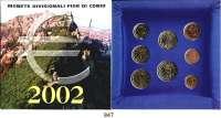 AUSLÄNDISCHE MÜNZEN,E U R O  -  P R Ä G U N G E N San Marino Kurssatz 2002 (8 Werte).  Cent bis 2 Euro.