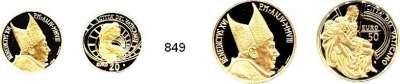 AUSLÄNDISCHE MÜNZEN,E U R O  -  P R Ä G U N G E N Vatikan 20 und 50 EURO 2008.  (5,5g und 13,75g fein).  Torso von Belvedere und Pieta.  LOT 2 Stück.  Jeweils im Originaletui mit Zertifikat.  GOLD