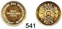 M E D A I L L E N,Automobile / Motorsport  Goldmedaille 1965.  25. Internationales Automobilturnier Bad Neuenahr MAC Köln.  17 mm.  3,24 g.  Im Originaletui.  GOLD