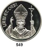 M E D A I L L E N,Religion; Liebe und Ehe  Silbermedaille 1975 (999).  Segen URBI ET ORBI.  Segnender Papst. / Insignien.  50 mm.  49,5 g.  Im Etui.