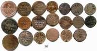 Deutsche Münzen und Medaillen,Anhalt LOTS       LOTS       LOTS LOT von 20 Kleinmünzen.  Meist Kupfermünzen des 18./19. Jahrhunderts.