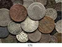 Deutsche Münzen und Medaillen,Preußen, Königreich L O T S     L O T S     L O T S LOT von 38 Kleinmünzen des 18. Jahrhundert (meist Friedrich II.).  Kupfer/Silber bis 1/6 Taler.
