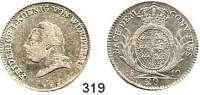 Deutsche Münzen und Medaillen,Württemberg, Königreich Friedrich I. (1797) 1806 - 1816 20 Kreuzer 1810.  AKS 44.  Jg. 13.