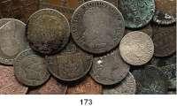 Deutsche Münzen und Medaillen,Preußen, Königreich L O T S     L O T S     L O T S LOT von 61 Kleinmünzen.  18./19. Jahrhundert.  Von 1 Pfennig bis 1/3 Taler.