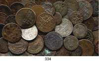 Deutsche Münzen und Medaillen,L O T S     L O T S     L O T S  LOT von 164 altdeutschen Kleinmünzen (Kupfer/Billon).  Meist 19. Jahrhundert.