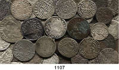 AUSLÄNDISCHE MÜNZEN,Polen LOTS   LOTS   LOTS LOT von 73 Kleinmünzen.  Polen/Litauen etc.  Meist 16./17. Jahrhundert.  Bitte besichtigen.