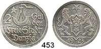 Besetzte Gebiete  -  Kolonien  -  Danzig,Danzig  2 Gulden 1923.
