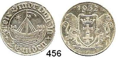 Besetzte Gebiete  -  Kolonien  -  Danzig,Danzig  2 Gulden 1932.  Kogge mit Stern.