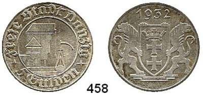 Besetzte Gebiete  -  Kolonien  -  Danzig,Danzig  5 Gulden 1932.  Krantor.