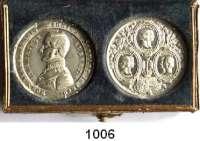 AUSLÄNDISCHE MÜNZEN,Großbritannien Viktoria 1837 - 1901 Zwei Zinnmedaillen 1848 und 1850.  Auf