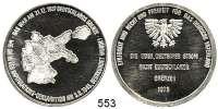 M E D A I L L E N,Bundesrepublik Deutschland  Silberne Propagandamedaille 1975.  Erinnerungs-Medaille an Deutschland 1945-1975.  Landkarte