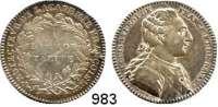 AUSLÄNDISCHE MÜNZEN,Frankreich Ludwig XVI. 1774 - 1793 Silber-Jeton o.J. (Nicolas Gatteaux) für die Akademie der Wissenschaften. Brustbild rechts. / A L'IMMOR-TALITE.  29 mm.  7,87 g.