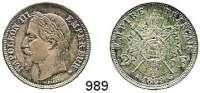 AUSLÄNDISCHE MÜNZEN,Frankreich Napoleon III. 1852 - 1870 2 Francs 1869 BB.  Kahnt/Schön 112.  KM 807.2.