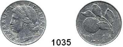AUSLÄNDISCHE MÜNZEN,Italien Republik, seit 1946 1 Lira 1947.  Schön 86.  KM 87.