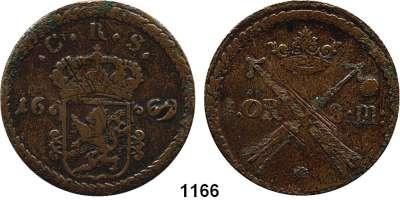 AUSLÄNDISCHE MÜNZEN,Schweden Karl XI. 1660 - 1697 1 Öre 1669, Kupfer.  47.09 g.  AAH 344.  KM 264.