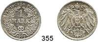 R E I C H S M Ü N Z E N,Kleinmünzen  1 Mark 1909 J.