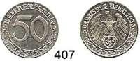 R E I C H S M Ü N Z E N,Drittes Reich  50 Reichspfennig 1939 B.