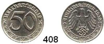R E I C H S M Ü N Z E N,Drittes Reich  50 Reichspfennig 1939 F.