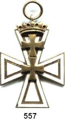 Orden, Ehrenzeichen, Militaria, Zeitgeschichte,Deutschland Danzig Danziger Kreuz.  2. Klasse am Band, Bronze vergoldet. ( Band fehlt ).  Hersteller HÜLSE   BERLIN.