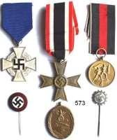 Orden, Ehrenzeichen, Militaria, Zeitgeschichte,Deutschland Drittes Reich LOT von 6 Abzeichen und Orden.