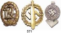 Orden, Ehrenzeichen, Militaria, Zeitgeschichte,Deutschland Drittes Reich SA-Sportabzeichen in Bronze (nummeriert); Sportabzeichen