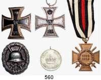 Orden, Ehrenzeichen, Militaria, Zeitgeschichte,Deutschland Preussen Fünf Orden :  Eisernes Kreuz I. Klasse 1914 (gewölbt mit Silberstempel