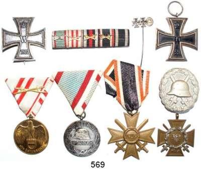 Orden, Ehrenzeichen, Militaria, Zeitgeschichte,Deutschland Deutsches Reich LOT von 9 Stück.  Eisernes Kreuz I. Klasse (grade, Hersteller