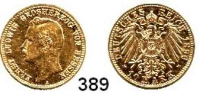 R E I C H S M Ü N Z E N,Hessen, Großherzogtum Ernst Ludwig 1892 - 1918 10 Mark 1896.