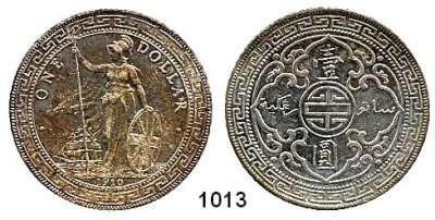 AUSLÄNDISCHE MÜNZEN,Großbritannien Georg V. 1910 - 1936 Trade Dollar 1910 B. Bombay.  Schön A 1.  KM T 5.