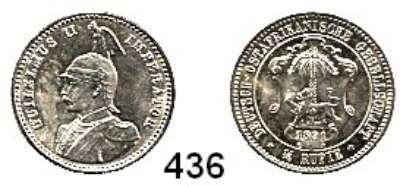Besetzte Gebiete  -  Kolonien  -  Danzig,Deutsch - Ostafrika  1/4 Rupie 1891.