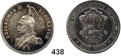 Besetzte Gebiete  -  Kolonien  -  Danzig,Deutsch - Ostafrika  1 Rupie 1890.
