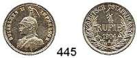 Besetzte Gebiete  -  Kolonien  -  Danzig,Deutsch - Ostafrika  1/4 Rupie 1904 A.