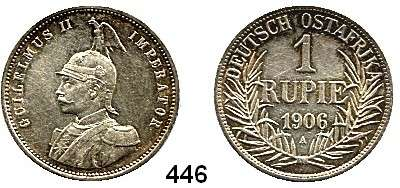 Besetzte Gebiete  -  Kolonien  -  Danzig,Deutsch - Ostafrika  1 Rupie 1906 A .