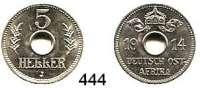 Besetzte Gebiete  -  Kolonien  -  Danzig,Deutsch - Ostafrika  5 Heller 1914 J.