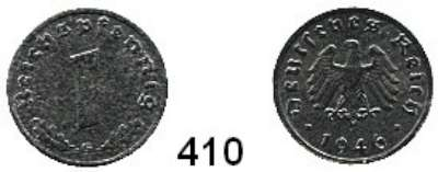 R E I C H S M Ü N Z E N,Alliierte Besetzung  1 Reichspfennig 1946 G.