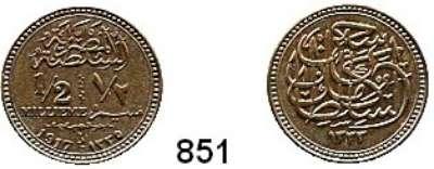 AUSLÄNDISCHE MÜNZEN,Ägypten Hussein Kamel 1914 - 1917 1/2 Millieme 1917.  Schön 24.  KM 312.